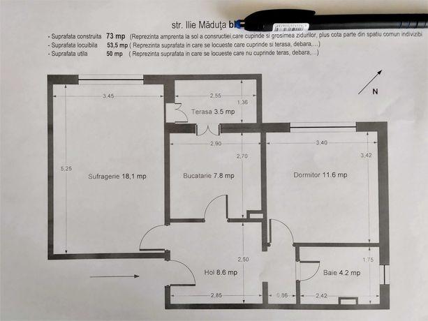 Vând apartament 2 camete decomandat Arad zona Micalaca 300.