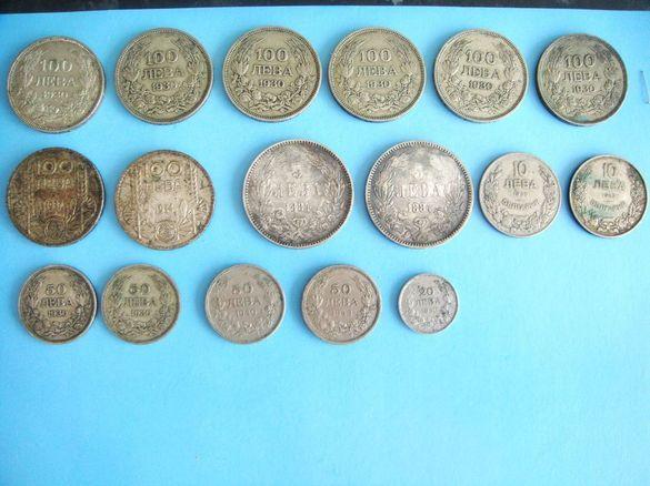 Българска Сребърна Монета 100 лева 1930 г и 1934 г- Цар Борис ІІІ
