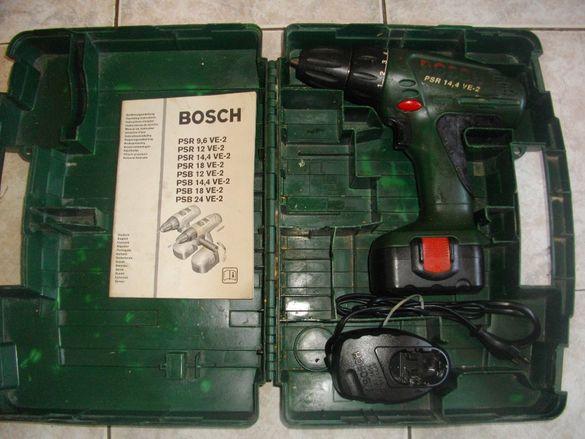 14,4 Волта-Bosch PSR14,4VE-2-Швейцария-Винтоверт-Дрелка-Бош-Комплект