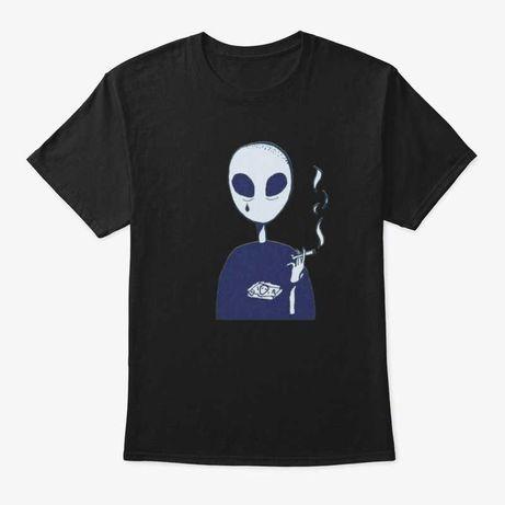Tricou  Unic Smoking Alien
