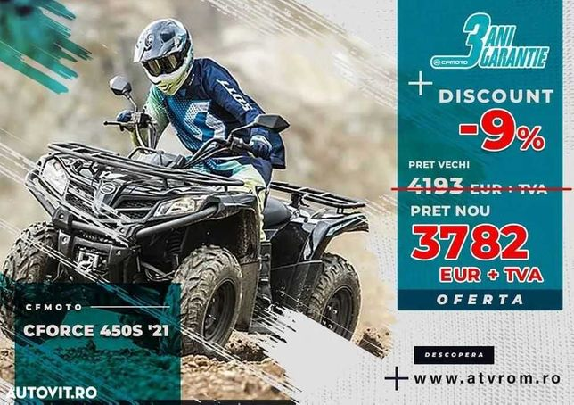 PROMOTIE ATV CF Moto CForce 450S 2021 (linhai tgb can-am)