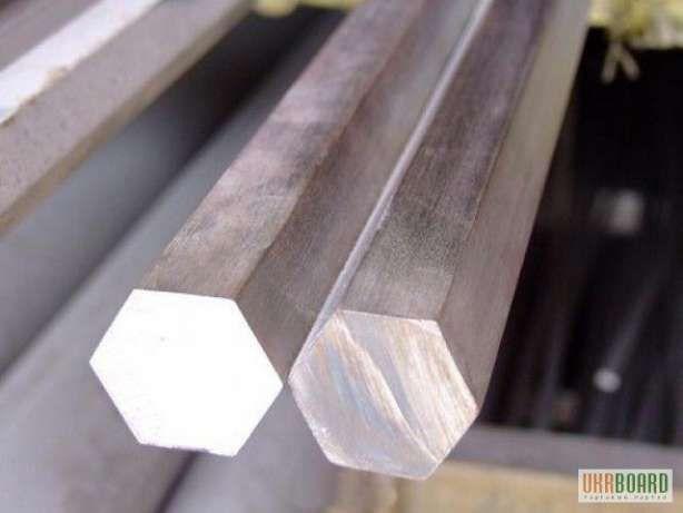 Шестигранник металлический стальной от 4 до 75 мм