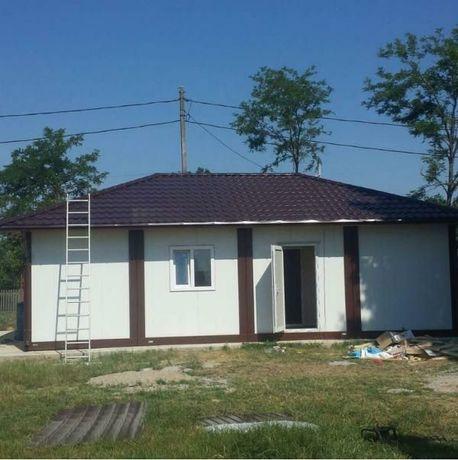 Vand containere stil casa din structura metalica