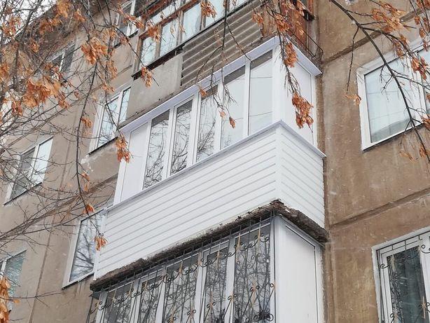 Балконы, лоджии. дерево, пластик, пластик+дерево