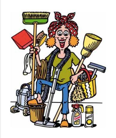Servicii de curățenie la domiciliu.