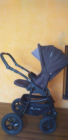 Коляска детская универсальная Riko Basic Alfa 2 в 1 10 коричневый
