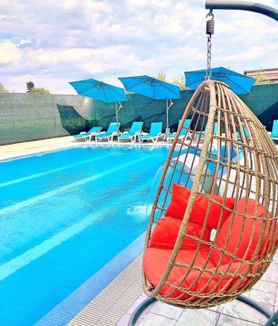 Vila regim hotelier/petreceri piscina olimpica, jacuzzi, sauna