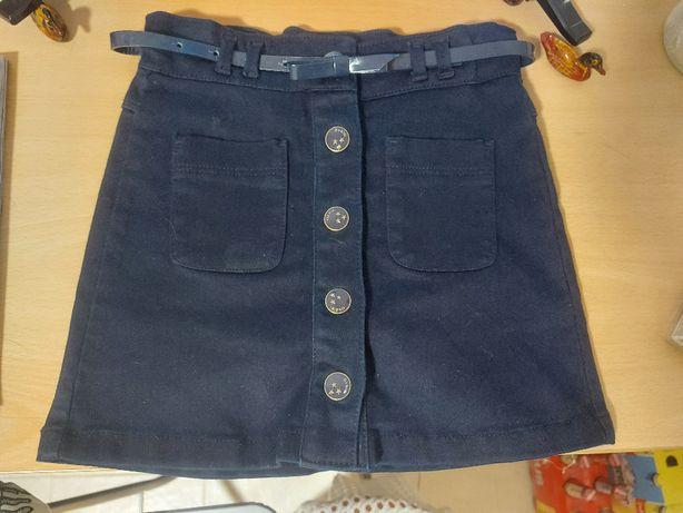 Fusta jeans cu capse fetita