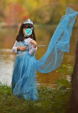 Rochita rochie Elsa Frozen NOUA cu trena detasabila 5,6,7,8,9,10 ani