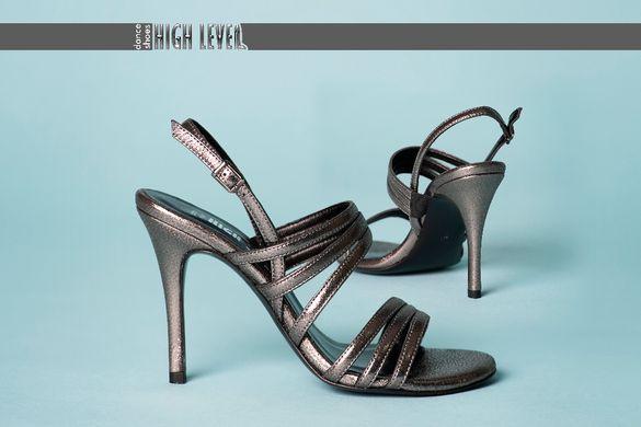 Дамски елегантни сандали от естествена кожа с висок ток