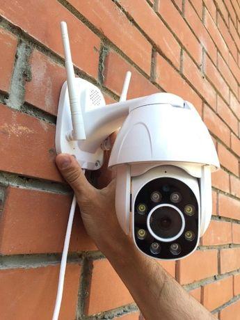 Уличная wifi ip камера 2 mp поворотная видеонаблюдения wi fi + Доставк