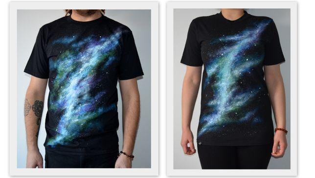Tricou Univers pictat manual - Galaxie mandala