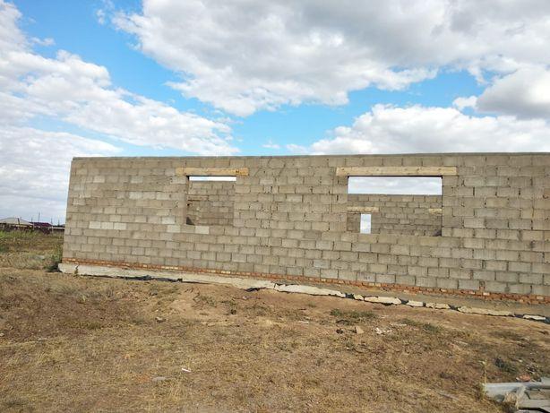 Продажа недостройног дома в Зеленовскй район п. Скворкино земля 10 сот