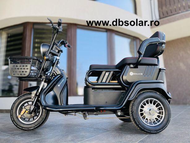 Scuter Electric Tricicleta Triciclu cu 2 Locuri Baterie 20Ah 650W ‼️