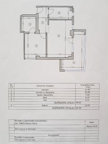 apartament 2 camere, 60.94 mp., str.Tineretului 85, MILITARI RESIDENCE