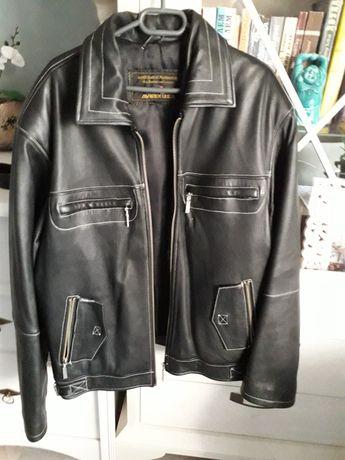 Мъжко черно яке естествена кожа