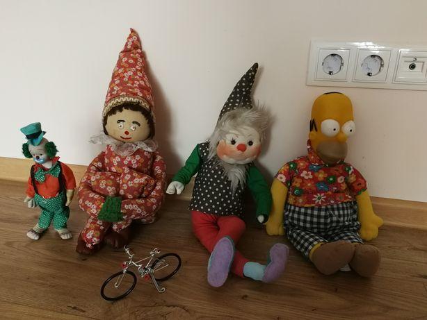 Papusi Clowni - de colectie + Homer Simpson - din Familia Simpson