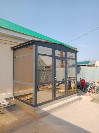Аллюминевые конструкции, двери, окна, витражи, фасады