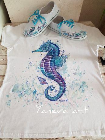 Тениски- ръчно рисувани