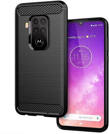 Луксозен калъф / кейс / гръб карбон Carbon за Motorola One Zoom