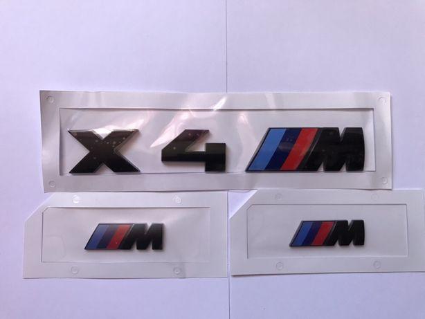 Set Embleme BMW X4M negru