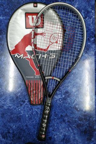 Теннисная ракетка Wilson Mach 3 Power Strings Graphite Titanium