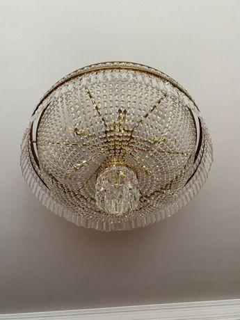 Люстра чешский хрусталь 9 ламп