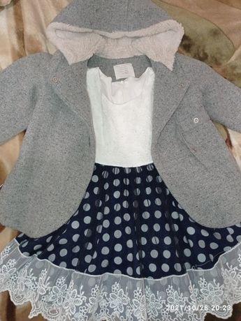 Продам детское пальто и платье