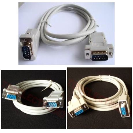 cablu rs232 cablu d-sub9 cablu 9pin pini 1 la 1 / inversati null modem
