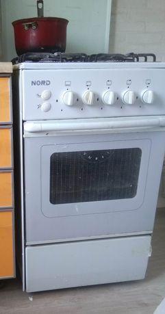 Газовая плита с духовкой Норд 501-4 белая 4 конфорки