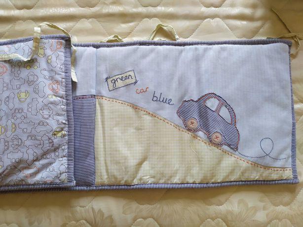 Бортик в кроватку и одеяло