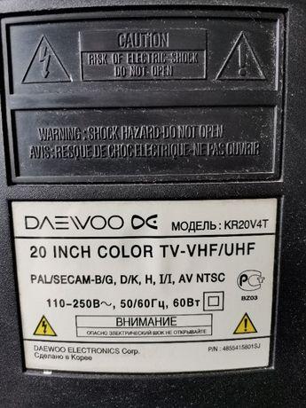 """Продам телевизор """" DAEWOO"""", модель :KR20V4T, цветного изображения, б/у"""