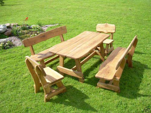 SET masa lemn masiv /2 canapele/ 2 scaune pt gradina/terasa/foisor