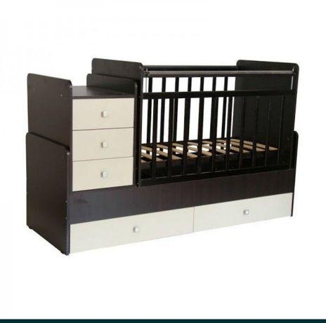 Продам детская кровать трансформер люлька пеленальный столик