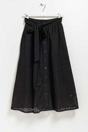 Aжурная миди юбка