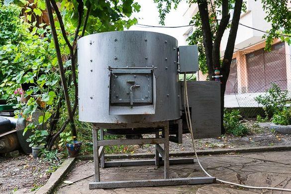 Машина за белене на орехи и отделяне на костилки от плодове (80 л.)