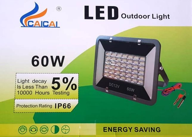 Panou proiector lampa led ultraslim 12v 60w pescuit camping protectie