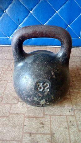 Продам гирю 32 кг