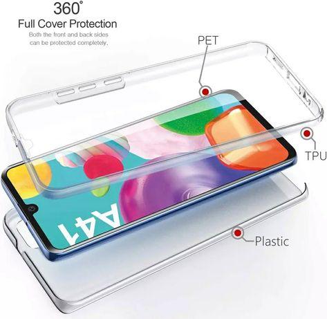 Силиконов 360 Градуса Кейс за Samsung Galaxy A41 A51 A71 A10 A20e A30s