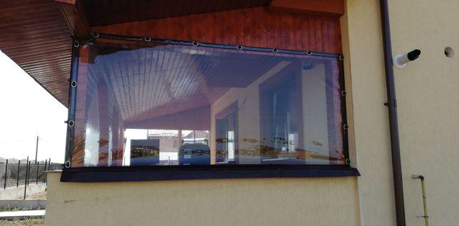 Închideri terase și foișoare cu folie cristal