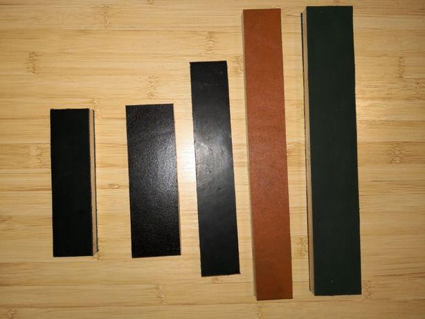 Strop piele pe suport din lemn pentru ascutit lustruit cutite