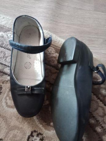 Туфли кожаный школьные.