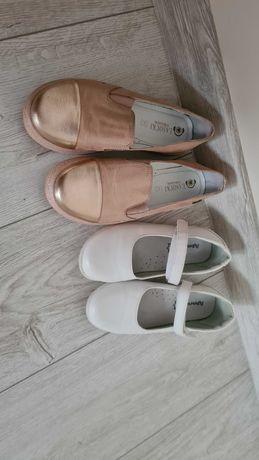 3 perechi de pantofi din piele pentru fetite