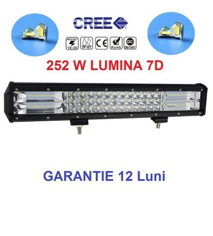 Led bar 252w, Lumina 7D, Garantie 1 an