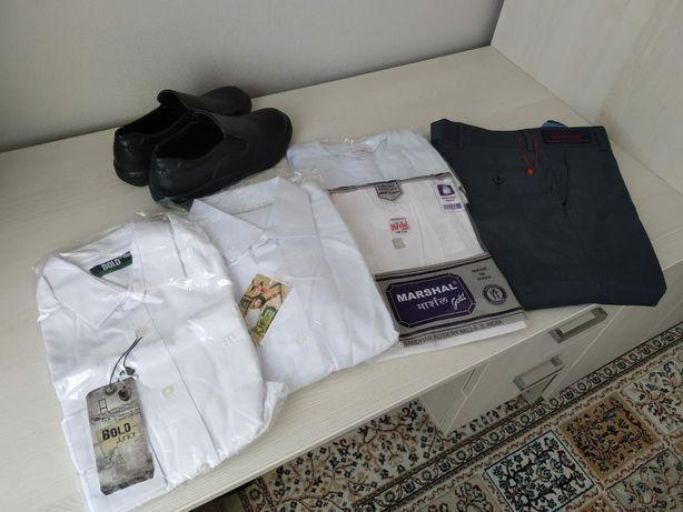 Школьна одежда рубашка брюки форма костюм на мальчика 10-14 лет новая