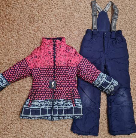 Куртки и комбинезон на девочку 6-10 лет