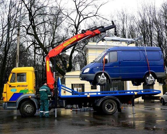 Услуги эвакуатора-манипулятора от 8000 тнг по городу