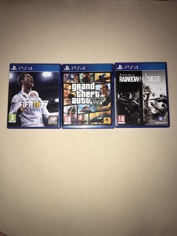 Jocuri PS4 - GTA V, Rainbow Six Siege, FIFA 2018