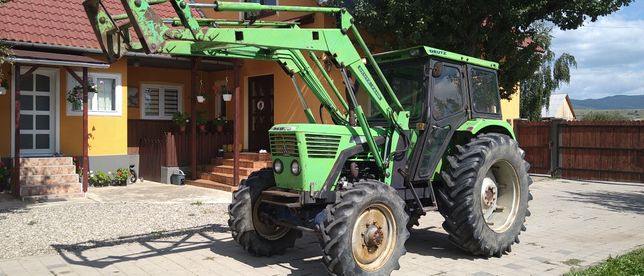 Tractor Deutz Fahr 68-cai incarcator cu cupa doua manete ca la fiat