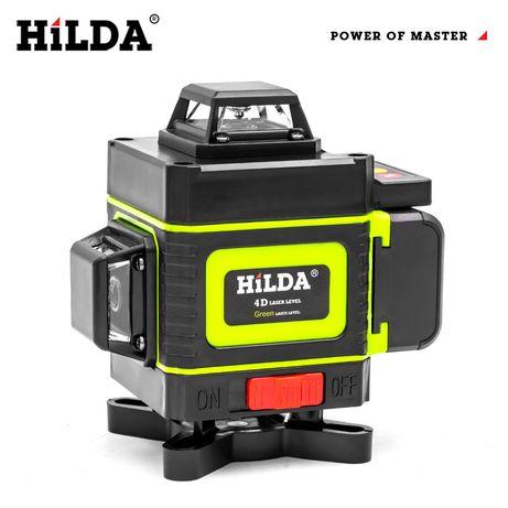 *НОВО* 4D Лазерен нивелир Hilda, 360°. В наличност.